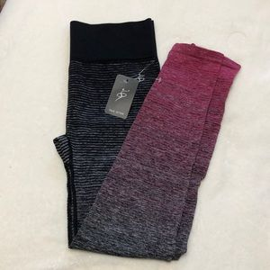 OtoS Active Pants - Full length black and pink leggings